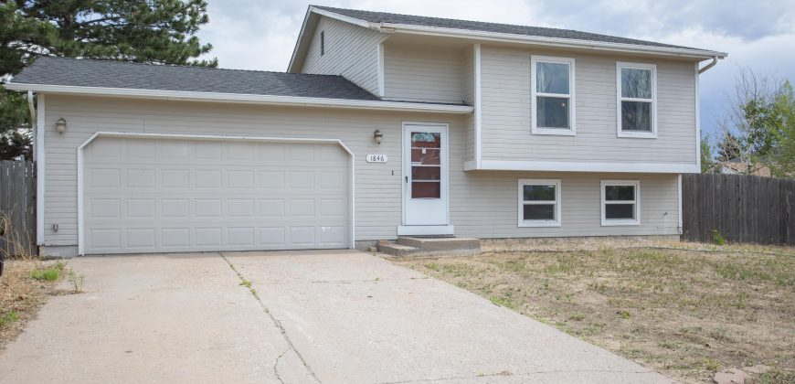 4 Bedroom-2 Bath Home for Sale-Well established neighborhood- 1846 Harley Lane, Colorado Springs 80916-SOLD