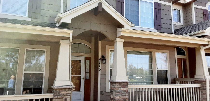 Gorgeous 2 Story Townhome Located Near Cottonwood Creek Park and in School District 11 for Rent